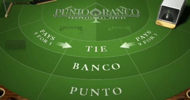 Baccarat - table Punto Banco