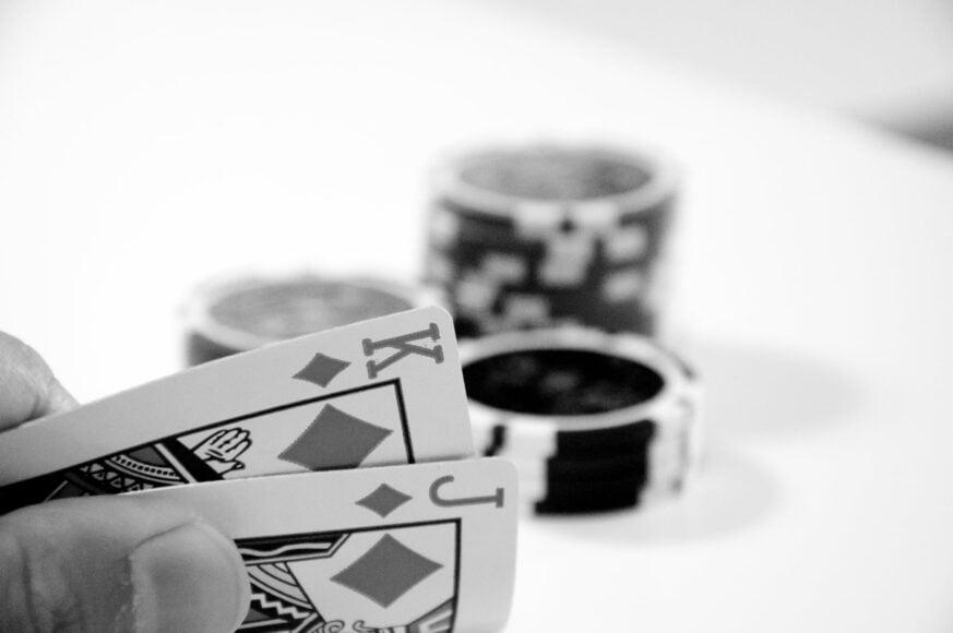 Cards and Chips svartvit