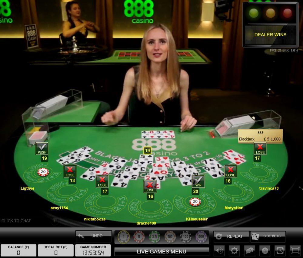 888 Live Casino Dealer Canada