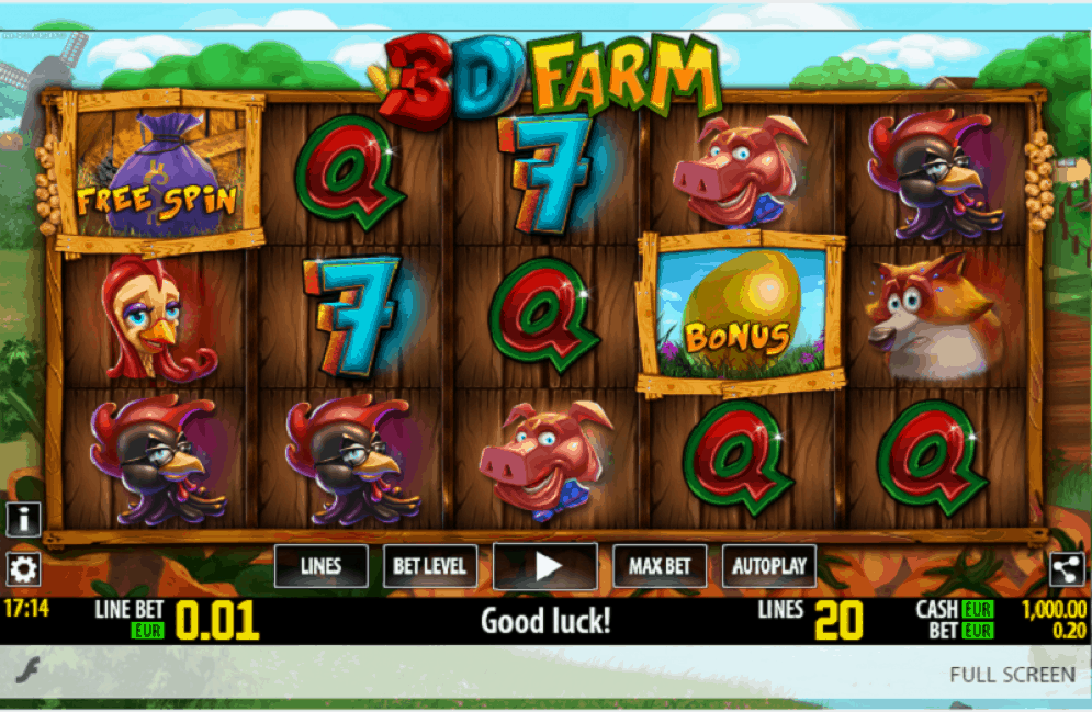 3d farm slot game