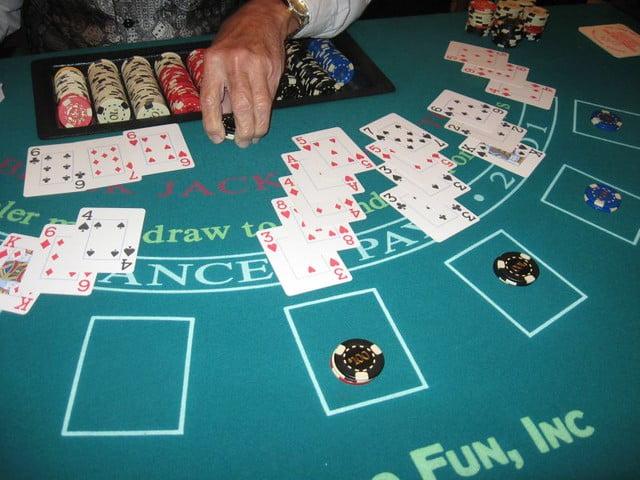Blackjack - table hand
