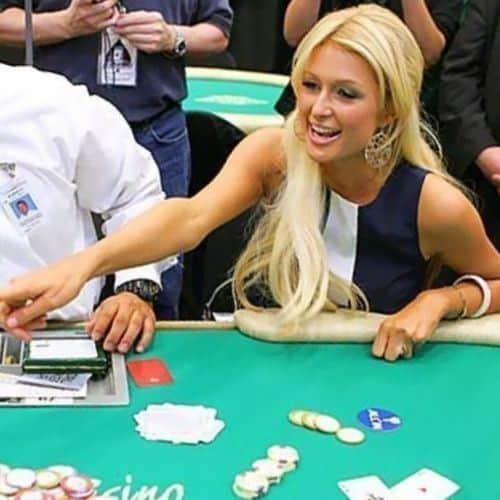 paris hilton playing blackjack